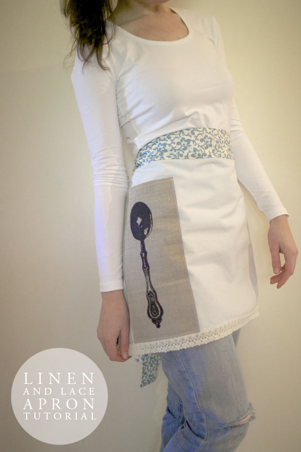 Linen and Lace Apron Tutorial | She Sows Seeds