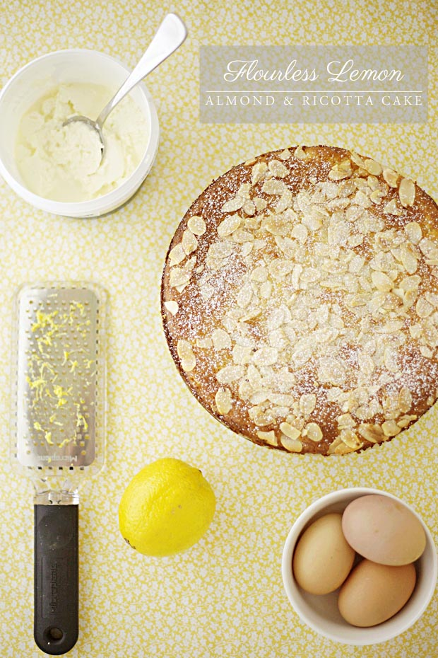 Flourless Lemon Almond & Ricotta Cake | She Sows Seeds