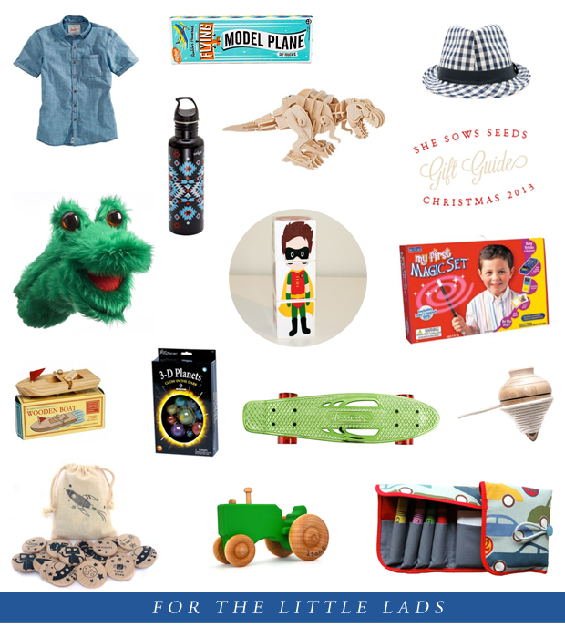 Gift Guide, for the little lads | She Sows Seeds