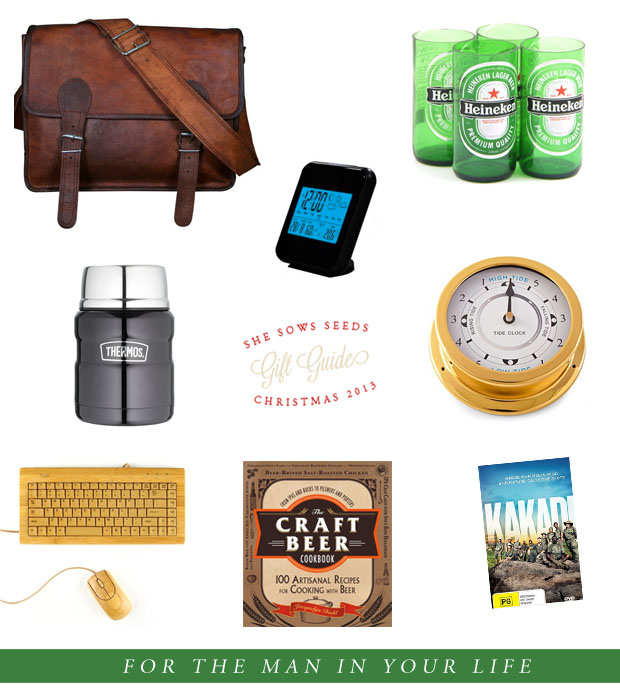 Gift Guide, for the man in your life | She Sows Seeds