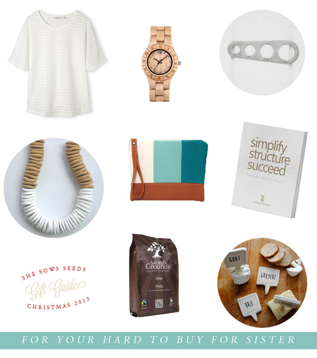 Gift Guide, for your hard to buy for sister | She Sows Seeds