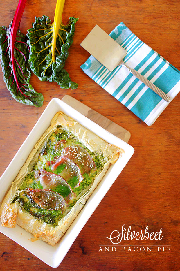Silverbeet & Bacon Pie | She Sows Seeds