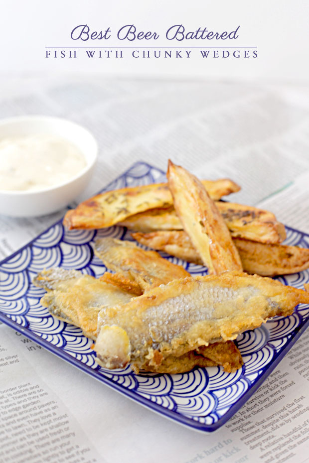 Beer Battered Fish with Chunky Wedges | She Sows Seeds