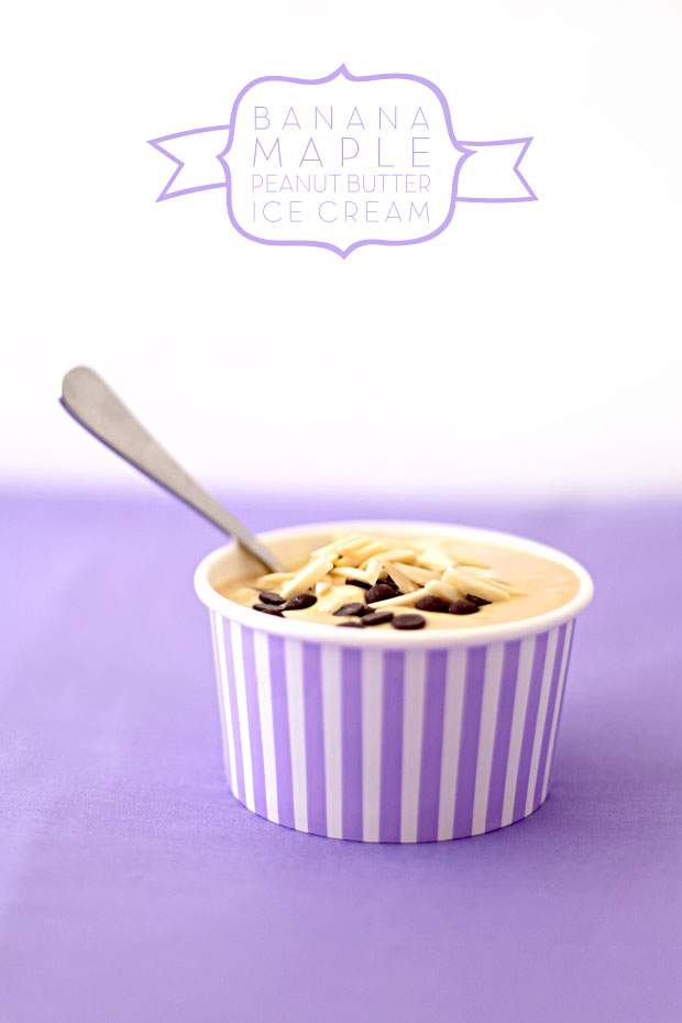Banana Maple Peanut Butter Ice Cream | She Sows Seeds