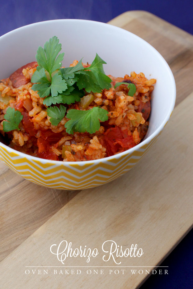 Chorizo One Pot Risotto | She Sows Seeds