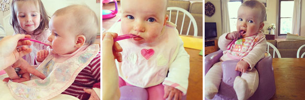Eleanor Eats Solids | She Sows Seeds
