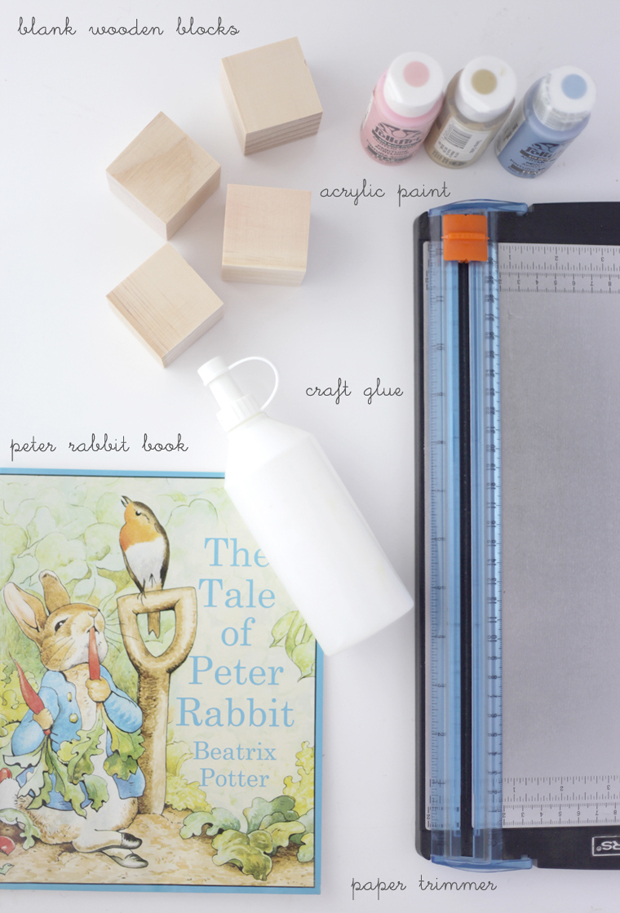 Peter Rabbit storybook blocks | She Sows Seeds 1