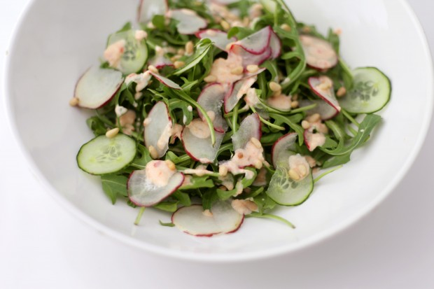 Rocket and Radish Spring Salad | She Sows Seeds 3