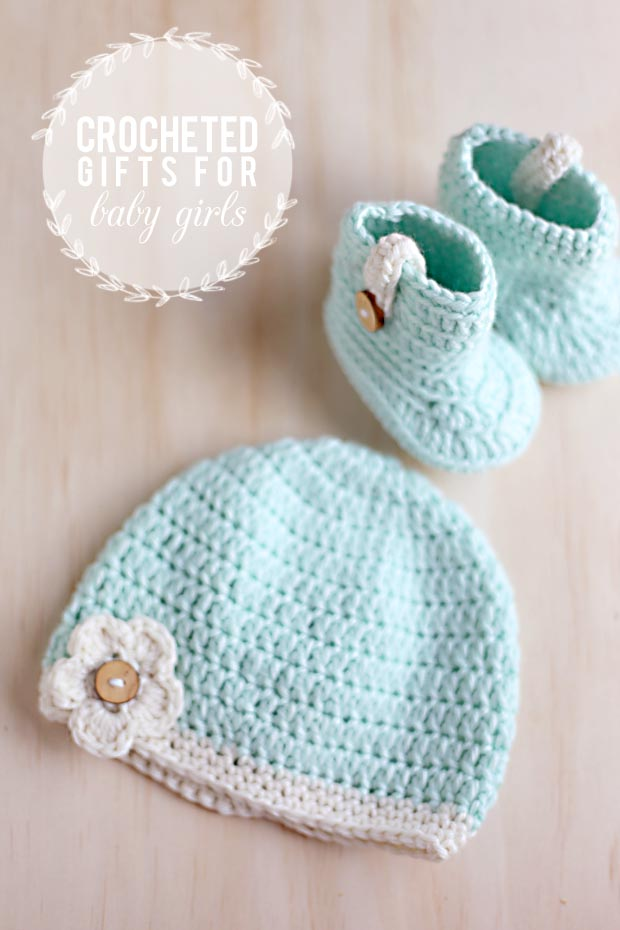 3 Crocheted Gifts for 3 Baby Girls | She Sows Seeds 4
