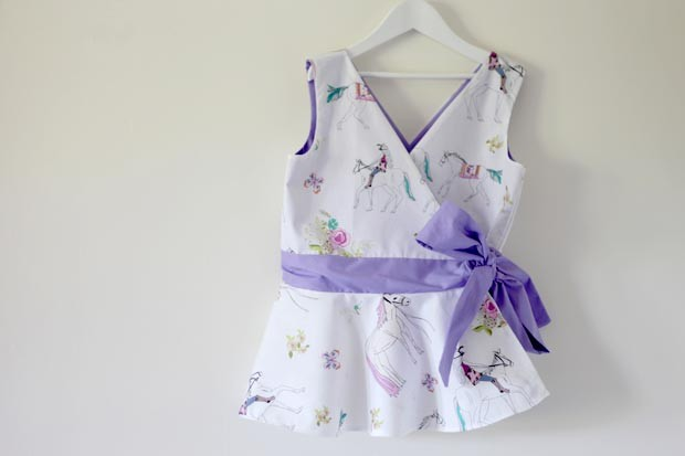 Sewing for Toddler to Teens- Peplum Wrap Top and Simple Halloween Dress | She Sows Seeds 12