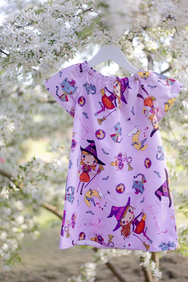 Sewing for Toddler to Teens- Peplum Wrap Top and Simple Halloween Dress | She Sows Seeds 13