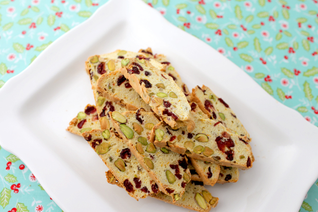 Pistachio and Cranberry Christmas Biscotti | She Sows Seeds 1