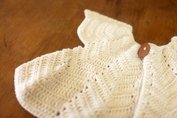 Cream Chevron Shrug | She Sows Seeds 1
