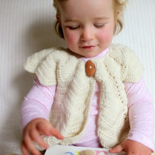 A Cream Chevron Shrug for Eleanor