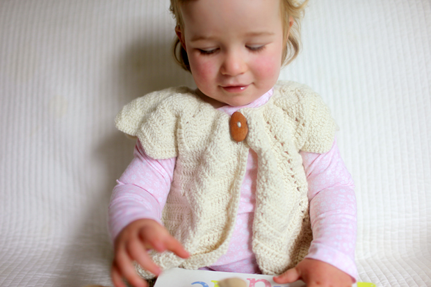 Cream Chevron Shrug | She Sows Seeds 10