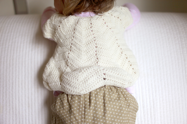 Cream Chevron Shrug | She Sows Seeds 4