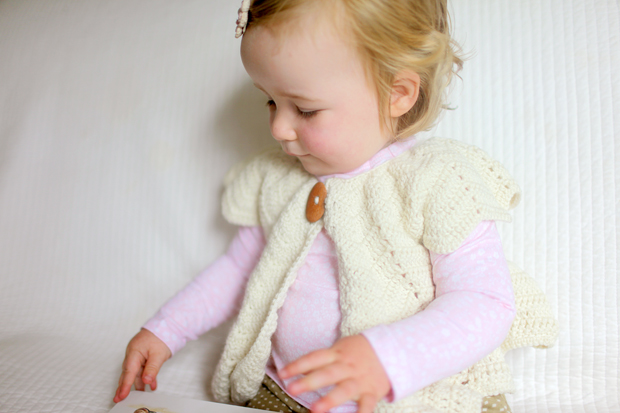 Cream Chevron Shrug | She Sows Seeds 6