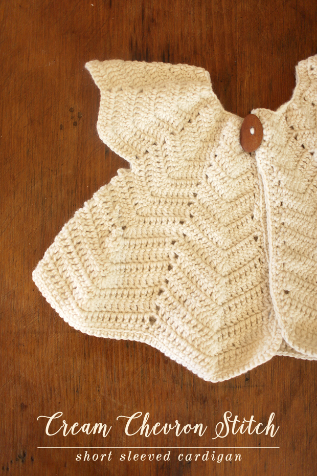 Cream Chevron Shrug | She Sows Seeds 7