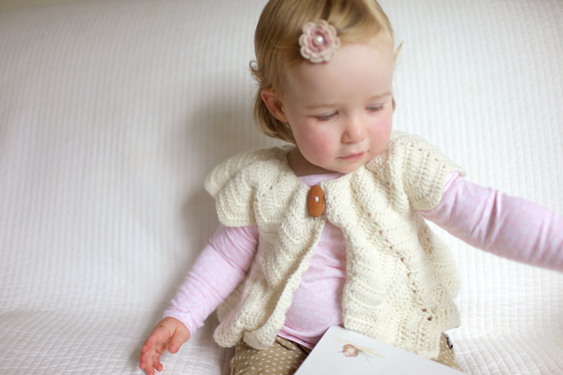 Cream Chevron Shrug | She Sows Seeds 8