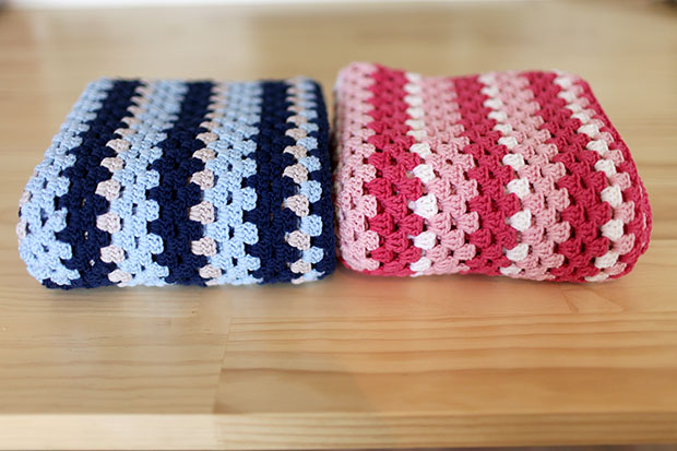 Crocheted Baby Blankets, A Girl Version, A Boy Version | She Sows Seeds 2