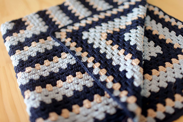 Crocheted Baby Blankets, A Girl Version, A Boy Version | She Sows Seeds 5