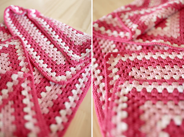 Crocheted Baby Blankets, A Girl Version, A Boy Version | She Sows Seeds 9