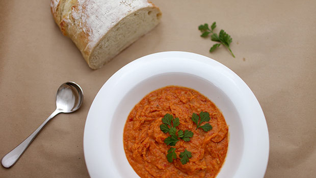 Roasted Sweet Potato and Capsicum Soup