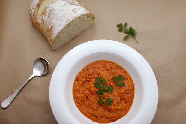 Roasted Sweet Potato and Capsicum Soup | She Sows Seeds
