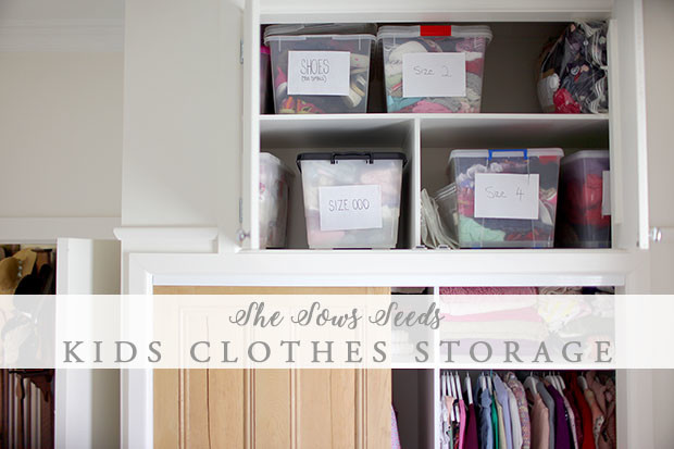 Kids Clothes Storage | She Sows Seeds 4