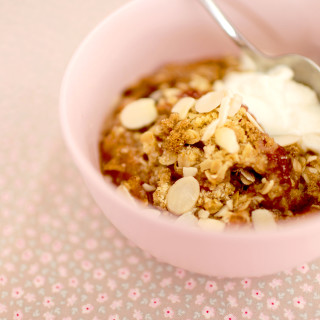Traditional Apple and Rhubarb Crumble