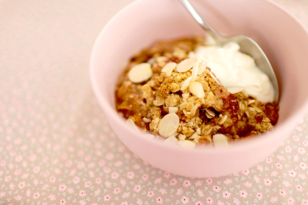 Traditional Apple and Rhubarb Crumble | She Sows Seeds 5
