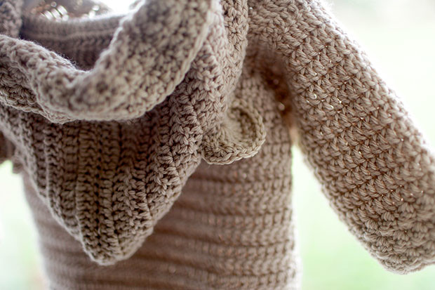 Hooded Bear Corcheted Cardigan | She Sows Seeds 2