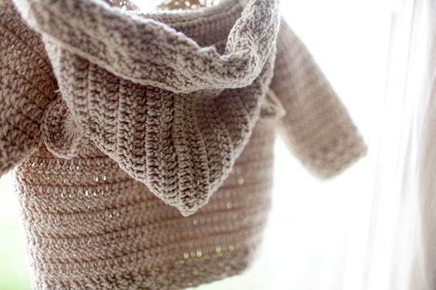 Hooded Bear Corcheted Cardigan | She Sows Seeds 3
