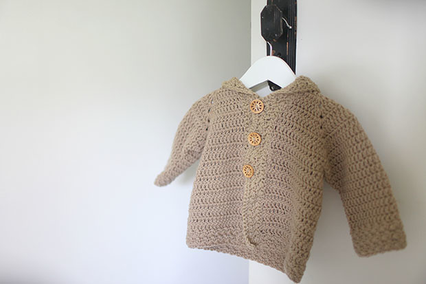 Hooded Bear Corcheted Cardigan | She Sows Seeds 7