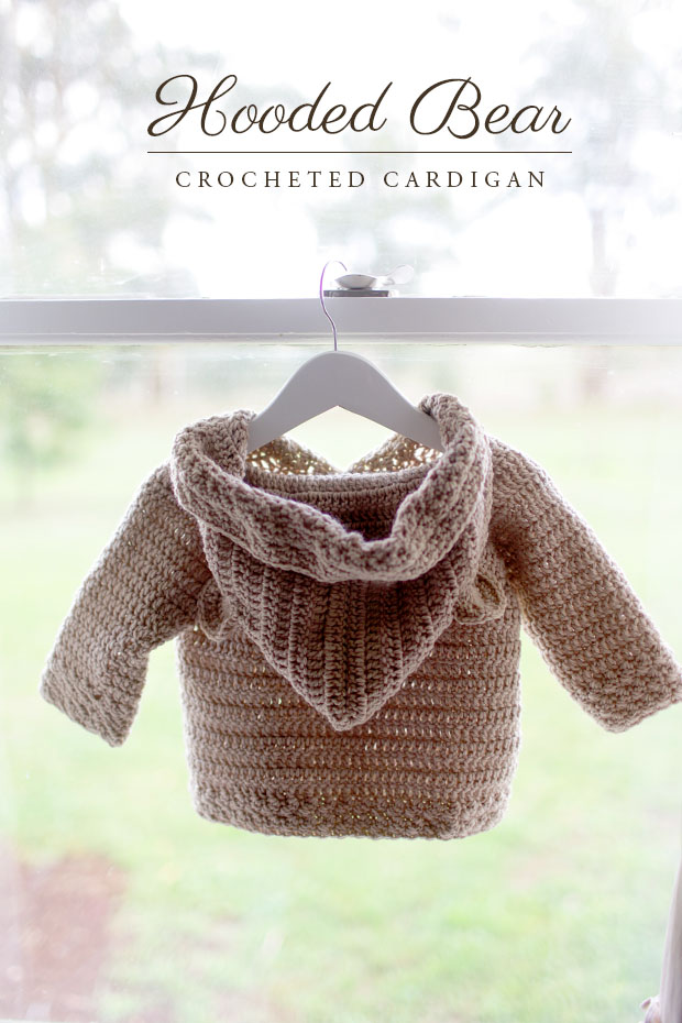 Hooded Bear Corcheted Cardigan | She Sows Seeds