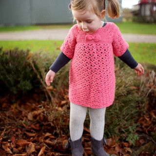 Crocheted Bow Dress for Eleanor